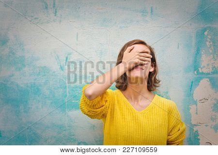 Desperate woman regretting a choice