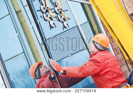 facade glass window installation