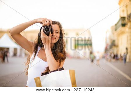 Taking a picture on vacation