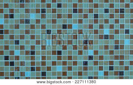 Closeup Of Mosaic In Bathroom Of Hotel Room