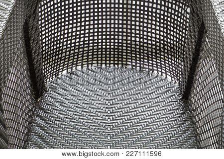 Closeup Of New Brown Texture Rattan Chair
