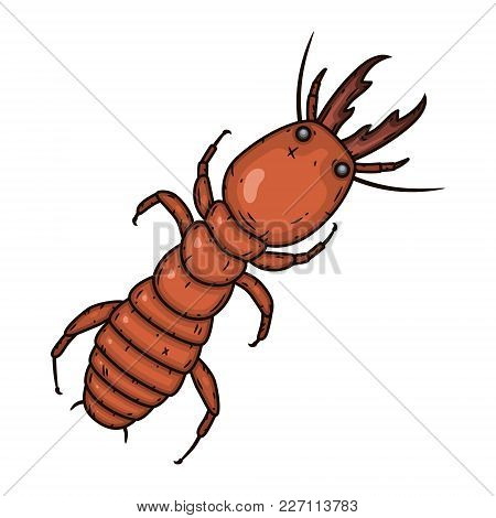 Vector Termite. Ant On A White Background. Vector Illustration