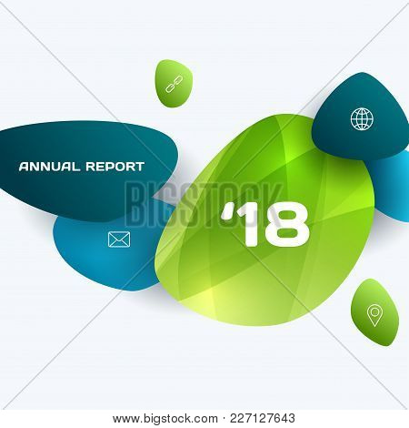 Abstract Vector Design Elements For Graphic Template. Creative Modern Business Background. Green Eco