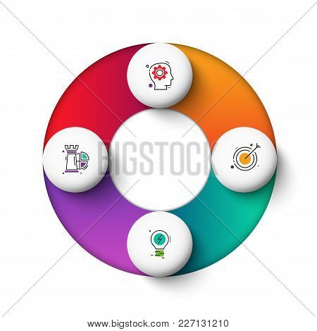 Vector Gradeinte Circle Elements For Infographic. Template For Cycle Diagram, Graph, Presentation An