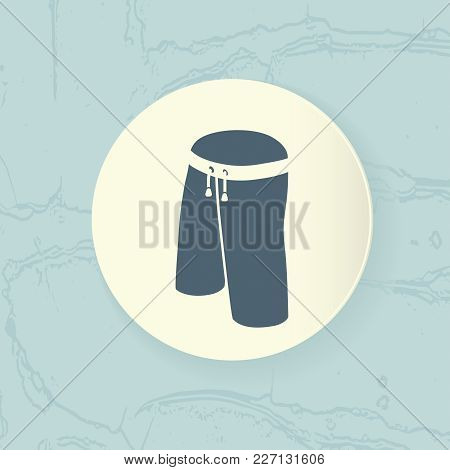 Shorts Icon Placed In A White Circle On An Abstract Blue Background