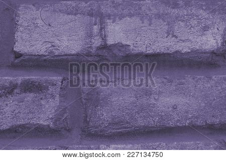 Stone Wall Background Old Wall Background Close Up - (photo Is Toned In Ultra Violet)
