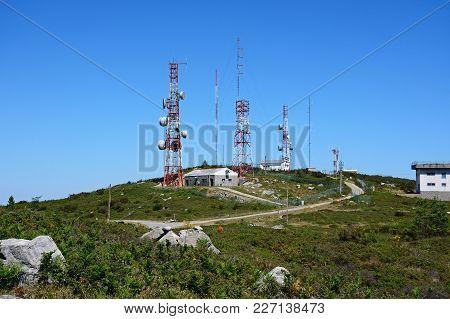 Mountain Radar Station In The Monchique Mountains, Foia, Algarve, Portugal, Europe.
