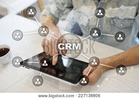Crm. Customer Relationship Management Concept. Customer Service And Relationship