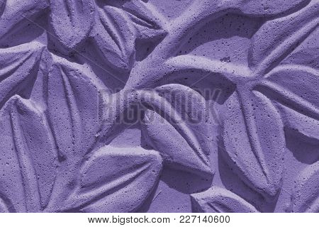 Stone Wall Imitation Of Cement - Close-up (photo Is Toned In Ultra Violet)