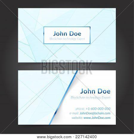 Hi-tech Technology Expert Business Cards Layout Template. Vector Illustration