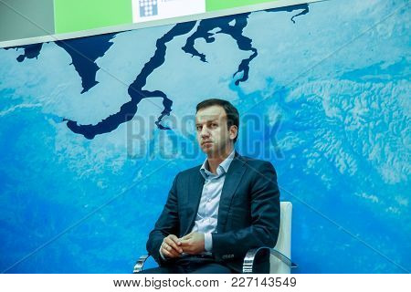 Moscow, Russia - Dec 7, 2011: Russian Federation Deputy Prime Minister Arkady Dvorkovich Makes Speec
