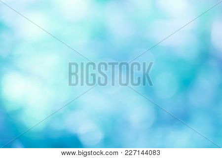 Abstract Blur Blue Color For Background,blurred And Defocused Effect Concept For Design