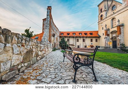 Inner Courtyard In Benedictine Monastery In Tyniec, Poland