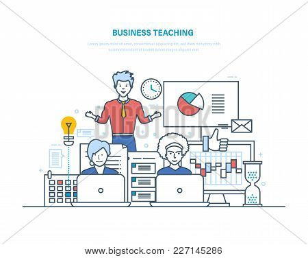 Business Teaching. Professional Business Trainings, Seminars, Motivation For Business Audience, Adva