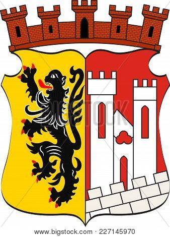 Coat Of Arms Of Juelich Is A Town In The District Of Dueren, In The Federal State Of North Rhine-wes