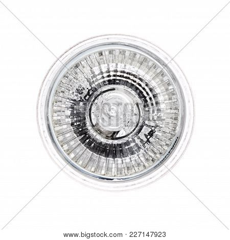 Halogen Light Bulb Isolated On White. High Resolution Photo.