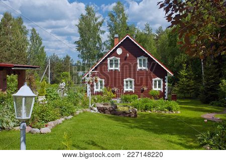 A Beautiful Village House With Its Garden