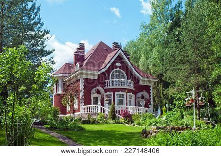 A Beautiful Village House With A Garden  In A Rural Area