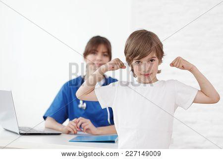 Healthy Child In Pediatrician Office