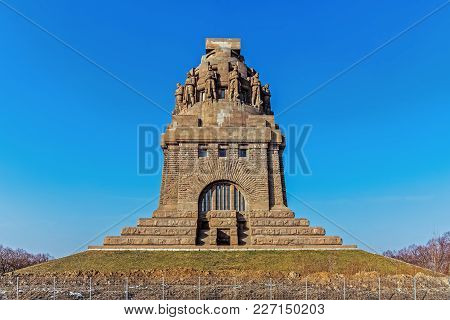 The Monument To The Battle Of The Nations In Leipzig, Germany.