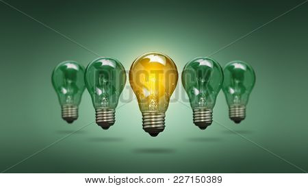 Bulb Idea Light Creative Innovation Leader - Stock Image
