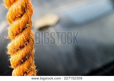 A Yellow Big Rope With Unfocused Background