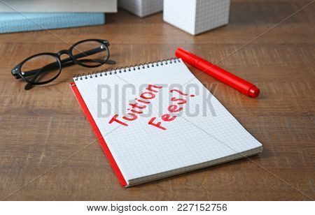 Notebook with question