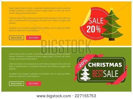 Premium Quality Hot Price Hristmas Sale Card Vector Illustration Isolated On Yellow And Green Backgr
