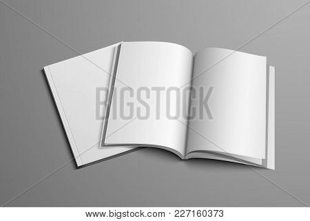 A Realistic Layout Of The Brochure For The Presentation Of The Page Turn And Cover.
