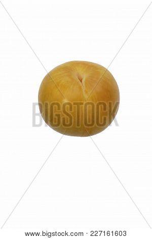 Early Dapple Pluot. Image Of Fruit Isolated On White Background