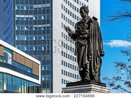 Leipzig, Germany - February 6, 2018: Monument To Albrecht Thaer (1752-1828), German Agronomist, Supp