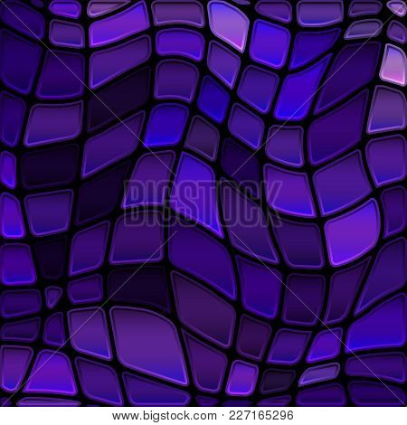 Abstract Vector Stained-glass Mosaic Background - Dark Violet