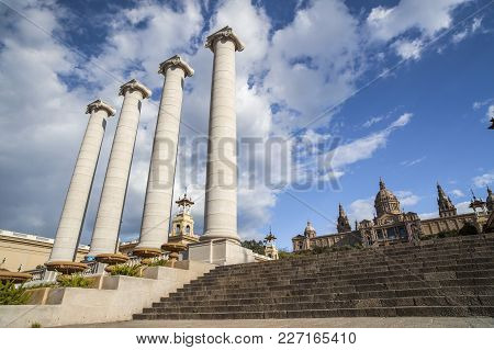 Barcelona,spain-april 13,2012: Four Columns,les Quatre Columnes Or Columnes De Puig I Cadafalch And