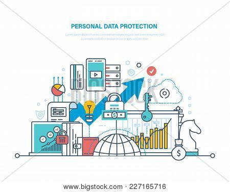 Personal Data Protection. Preservation And Confidentiality Of Information, Database Secure, Measures