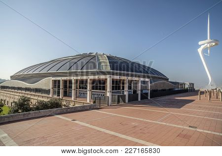 Barcelona,spain-november 16,2012: Palau Sant Jordi, By Arata Isozaki. Multipurpose Building In Olymp
