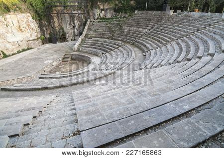 Barcelona,spain-march 1,2012: Greek Theater,teatre Grec, Gardens, Built For 1929 Barcelona Internati