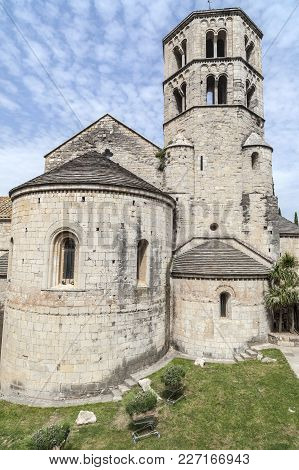 Girona,spain-may 12,2012: Ancient Benedictine Abbey,sant Pere De Galligants, Museum Of Archeology. G