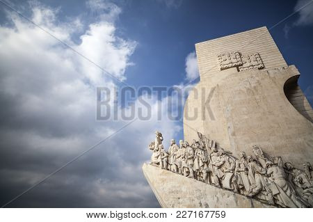 Lisbon,portugal-march 16,2012:  Monument To The Discoveries, Pradao Dos Descobrimentos, Lisbon.