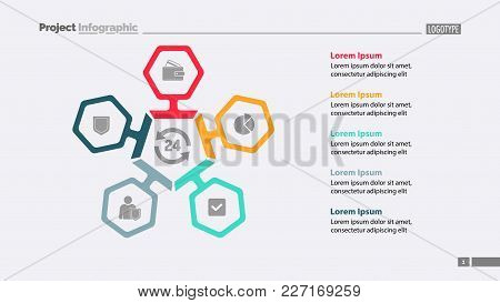 Five Main Components Of Business Process Chart Template. Business Data. Graph, Chart, Design. Creati