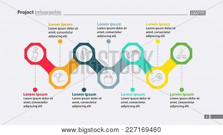 Seven Elements Of Business Process Template. Business Data. Graph, Chart, Design. Creative Concept F