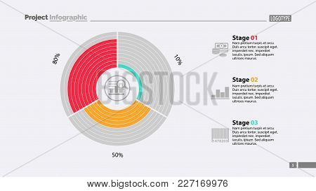 Circle Diagram Of Three Stages Template. Business Data. Graph, Chart, Design. Creative Concept For I