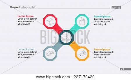 Four Components Of Main Idea Template. Business Data. Graph, Chart, Design. Creative Concept For Inf