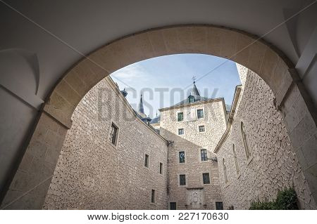 Segovia,spain-november 20,2012: Architecture, Building, Ancient Military Castle, Interior,alcazar Of