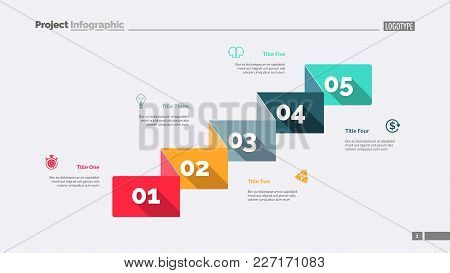 Five Business Components Slide Template. Business Data. Graph, Diagram. Creative Concept For Infogra