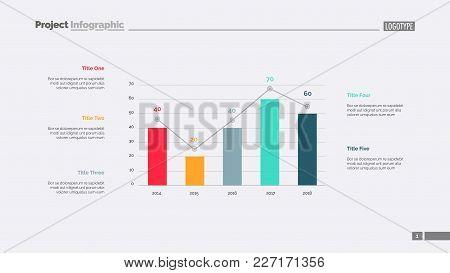 Four Columns Bar Chart Slide Template. Business Data. Comparison, Diagram, Design. Creative Concept
