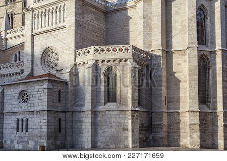 Valladolid,spain-november 23,2012: Architecture Religious Building Church, Iglesia Santa Maria La An