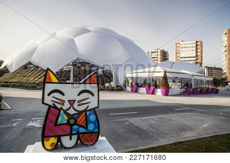 Valladolid, Spain-november 20,2012: Architecture,dome Millenium,cupula Del Milenio,valladolid.