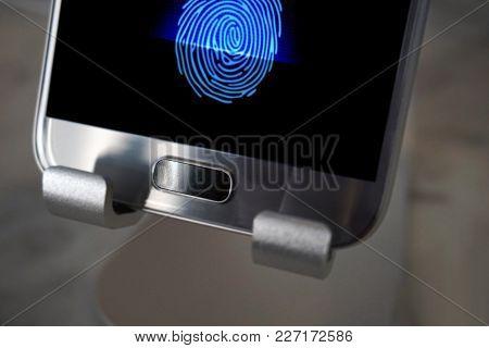 Smartphone With Fingerprint Scanner.