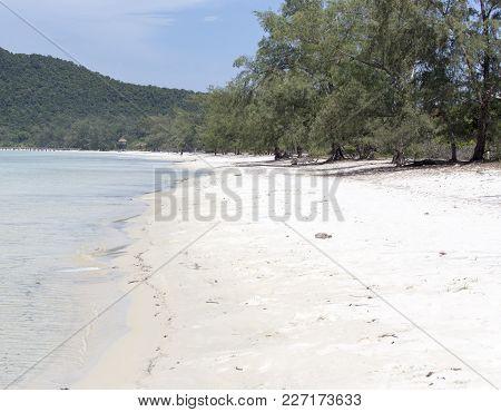 Beautiful Beach In Cambodia At Sihanoukville, Asia