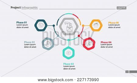 Five Phases Of Business Process Template. Business Data. Graph, Chart, Design. Creative Concept For
